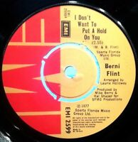 BERNI FLINT 45RPM I DON'T WANT TO PUT A HOLD ON YOU 1977 FREE POST IN AUSTRALIA