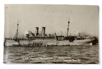 USS Martha Washington  WW1 U.S. Navy Troop Ship RPPC Real Photo c.1918 Postcard