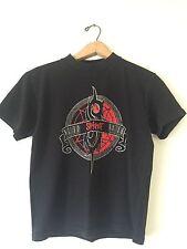 Slipknot Vintage Maggot Rock Band Shirt Small Black Logo Barcode