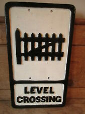 Level crossing aluminum road sign. traffic sign.vintage sign.road sign.