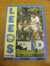 24/04/1984 Leeds United v Oldham Athletic  . Item appears to be in good conditio