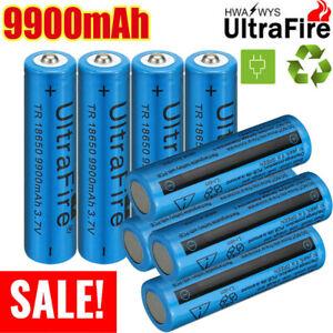 Ultrafire 9900mAh 3.7V Li-ion Rechargeable Battery + T6 Zoom Flashlight Light