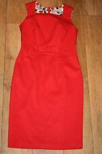 Nuevo Vestido Lápiz! M&S Rojo Talla 10 Pin Up Vintage años 50 boda ocasión Party Arco