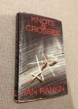 Ian Rankin KNOTS AND CROSSES hardback 1st ed 1987 Bodley Head ex-library