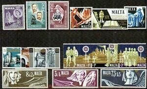 MALTA  – 1954-1972   – COLLECTION  – VF  **