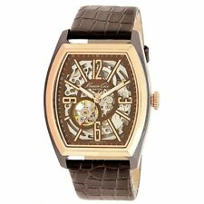 Kenneth Cole New York Mens KC1791 Brown Rose Gold Automatic Barrel Watch