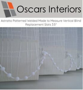 """Astratto Welded Made To Measure Vertical Blind Replacement Slats Louvres 3.5"""""""