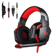 Rot 3,5mm Gaming Kopfhörer Headset mit Mikrofon für PC Mac Laptop PS4 Xbox One