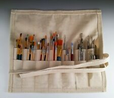 Canvas Pottery Tool Bag, Heavy Duty Canvas Tool Bag, Polymer Clay Tool Bag