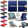 Gorilla Tech Suede Leather Wallet Flip Case for Apple iPad Detachable Two Part