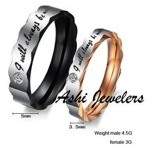 Solid Titanium Couple Rings 2 pcs
