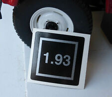 LAND ROVER DISCOVERY DEFENDER TD5 Egr bac001110 MOTOR EMISIONES Etiqueta