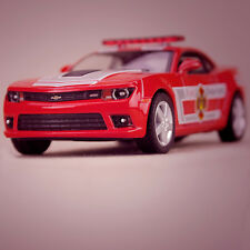 Red 2014 Chevrolet Camaro Fire Fighter Collectible Model Car 1:38 Scale