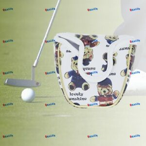 QHALEN Teddy Bear Golf Magnetic Mallet Putter Cover For Scotty Cameron Odyssey