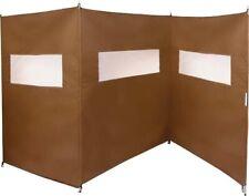 Coupe vent paravent écran 180 x 450 cm 3 pans idéal camping caravane bois jardin