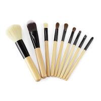 9 Pieces Makeup Brush Cosmetic Set Kit Eyeshadow Foundation Powder Blush Eye