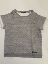 Finger In The Nose Girls Gray Quilted Shortsleeve Top Size 10/11 Years