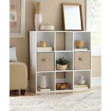 Mainstays 9 Cube Storage Organizer - White