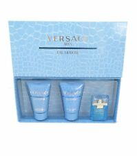 Versace Man Eau Fraiche Edt. After Shave Balm & Shower Gel Mini Sets New