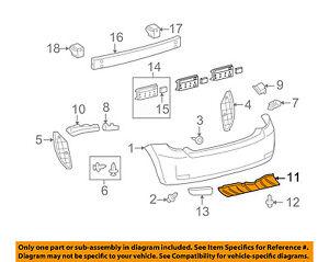 Scion TOYOTA OEM 08-14 xD Rear Bumper-Under Cover 5839852050