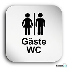 "Aluminium Schild ""Gäste WC"" 150 x 150 mm • Damen • Toilette • Toilettenschild"