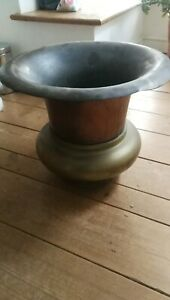 Antique Vintage 19th C Steam Launch Boat Funnel Brass Copper Engine Traction
