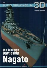 The Japanese Battleship NAGATO - Super Drawings in 3D - Kagero ENGLISH
