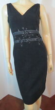 NEW NWOT TOCCA Black Metallic Silver Embroidered Curvy LBD All Occasion Dress 8