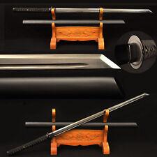 Japanese Samurai Black Blade Ninja Sword Carbon steel Kiriha Zukuri Blade Sharp
