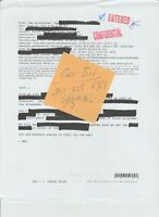 House of Cards Zoe Kate Mara Screen Used Paperwork Confidential Paper Folder