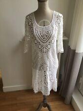 jolie tunique robe de plage blanche Calzedonia taille 1 ou 36 neuve!
