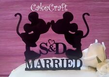 Acrylic initial Mickey Minnie Mouse wedding engagement cake topper decoration