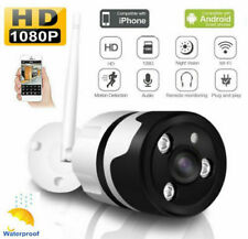 Wireless WiFi Outdoor CCTV Camera Security System 1080P IP Panoramic Bullet Cam