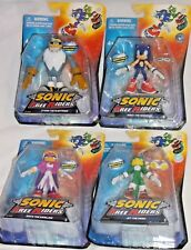 JAZWARES Free Riders SONIC HEDGEHOG set 4x - JET Hawk STORM WAVE Swallow Figures