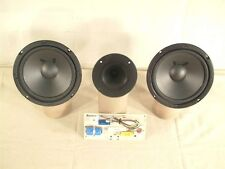"Dual 6.5"" Woofer Bookshelf Kit With Horn Tweeter Cerwin Vega ESS Tower 8 ohm"