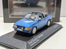 Ford Escort Cabriolet Blue 1/43 MINICHAMPS Rare