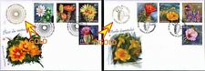 """2 FDC SPECIAL GOLD / ROMANIA 2014 & 2017 """"CACTUS FLOWERS & DESERT FLOWERS"""""""