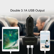 4IN1 Car Charger Adapter Multifunctional 3.1A Dual USB Voltage Tester Red LCD