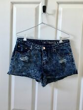 Dark denim ladies frayed shorts size 10