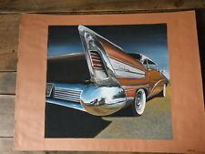 Early Work PAINT of a Car Designer 80's automobile BUICK CENTURY 50's  Gouache