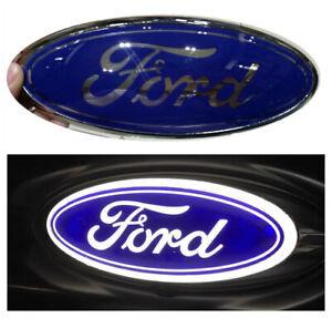 "9"" LED White Light Tailgate Emblem Front Grille Nameplate For Ford F150 250 350"