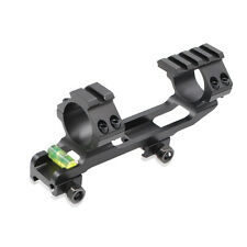 30mm Ring Mount Top Flat 20mm Picatinny Rail Mount&Bubble Level for Rifle Scope