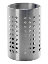 Ikea Ordning Kitchen Utensil Holder Stainless Steel 18cm Tall, BNWT