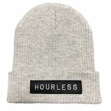 Hourless Classic Beanie Mens Ladies GREY Afends RVCA Drop Dead Tattoo Apparel