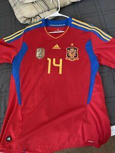 2010-11 Adidas Spain Jersey Xabi Alonso XL