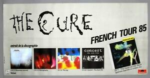 THE CURE – rare vintage original 1985 French Fiction / Polydor promo poster