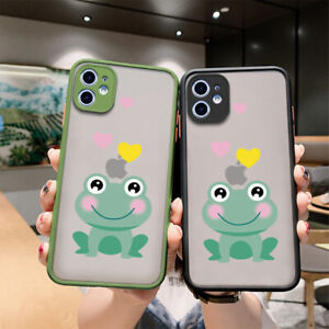 Cute Cartoon Frog Case Frosted Transparent Hard Phone For Huawei P40 30 20 pro