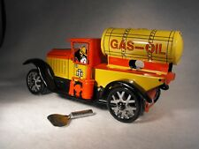 TINPLATE TOY CLOCKWORK WIND UP PETROL TANKER TRUCK REPRODUCTION ANTIQUE VINTAGE
