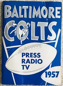 1957 Baltimore Colts Media Guide Johnny Unitas Alan Ameche Raymond Berry!