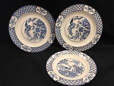 VINTAGE WOOD & SONS YUAN CHINOISERIE BLUE & WHITE PORCELAIN PLATES